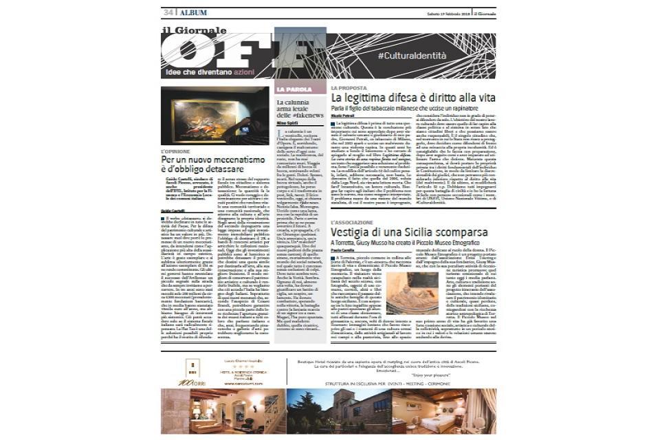 EDITORIALE OFF - IL GIORNALE, CON IL 100 TORRI
